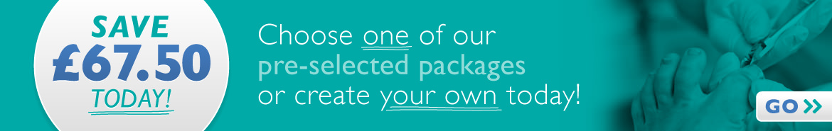 Choose one of our pre-selected packages for great savings